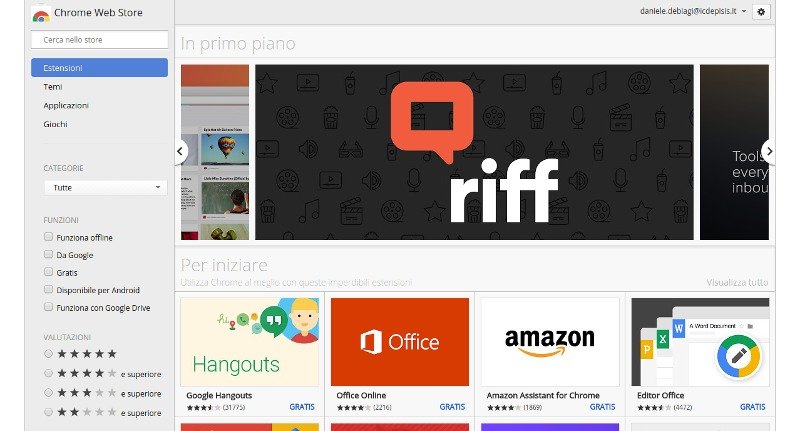 Il Chrome Web Store