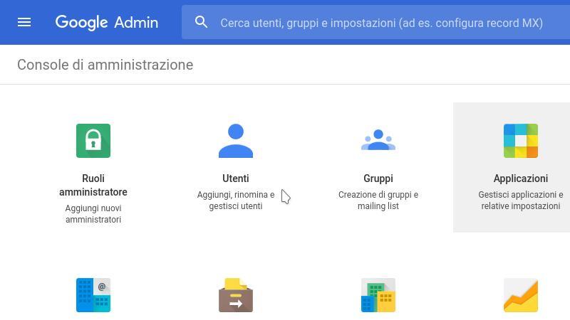 Creare utenti multipli in G Suite