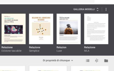 Integrare nel sito web la galleria dei modelli di Google Drive