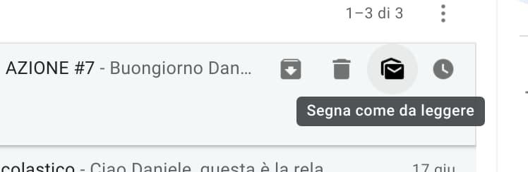 Gmail - segna come da leggere