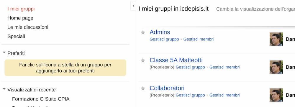 I miei Gruppi