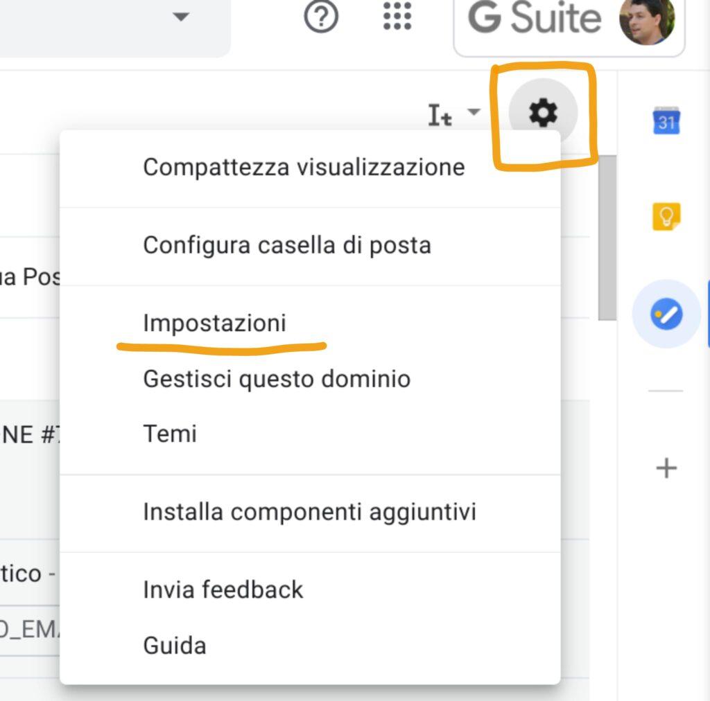 Organizzare Gmail: impostazioni