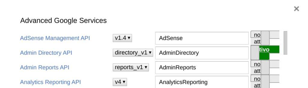 Admin directory API